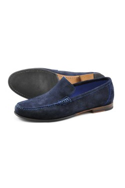 LOAKE NICHOLSON Moccasins NAVY SUEDE
