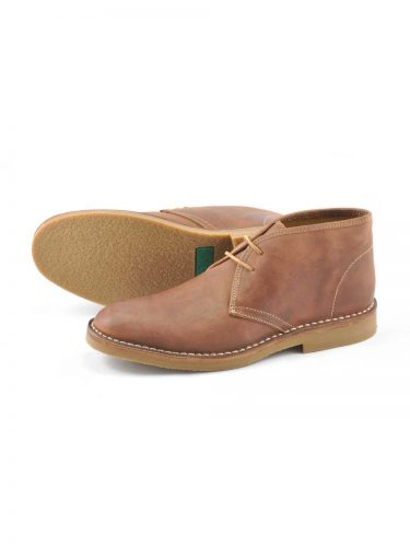 LOAKE KALAHARI Desert Boot BROWN WAXY LEATHER