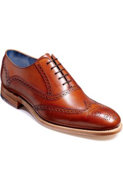 BARKER VALIANT Hand Painted Shoes Rosewood 4178FW61