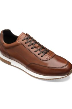 LOAKE BANNISTER CEDAR LEATHER TRAINERS