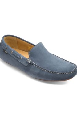 LOAKE DONINGTON LIGHT BLUE SUEDE DRIVING SHOES