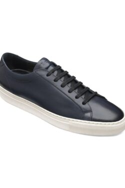 LOAKE SPRINT NAVY LEATHER CUP SOLE SNEAKERS