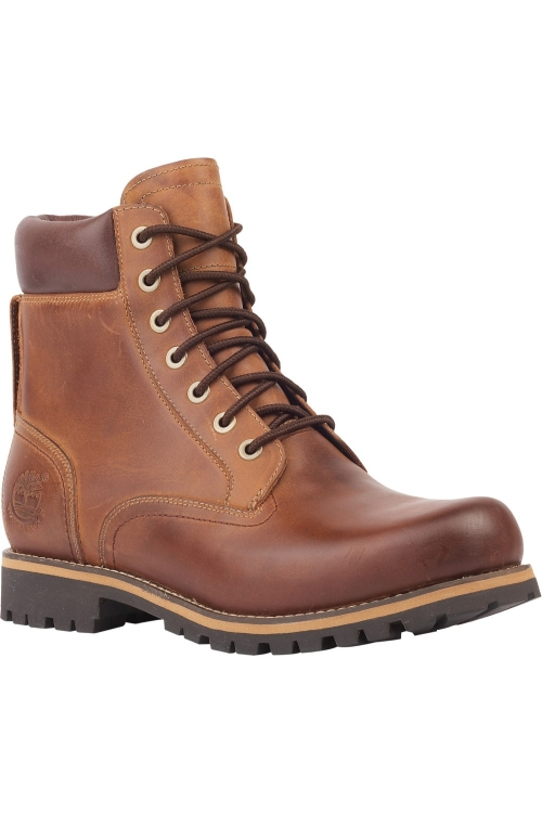 TIMBERLAND RUGGED 6 INCH PLAIN TOE WATERPROOF BOOT COPPER