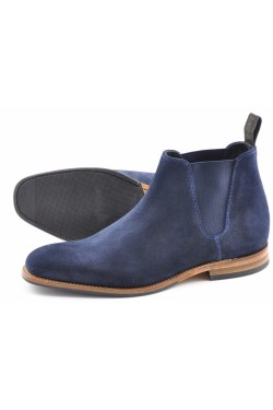 LOAKE CAINE NAVY SUEDE